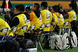 Fotógrafos de imprensa que trabalharam na cobertura da partida entre as equipes do Internacional, do Brasil e Barcelona, da Espanha válida pela final do Mundial Interclubes da FIFA, no Estadio Internacional de Yokohama. FOTO: Jefferson Bernardes/Preview.com