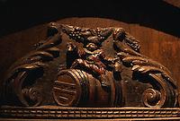 ca. 1990s, Colmar, France --- Wine Cask Detail at Museum Unterlinden --- Image by © Owen Franken/CORBIS