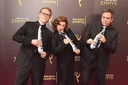 Jack Dolgen, Rachel Bloom, Adam Schlesinger bei der Ankunft zur Verleihung der Creative Arts Emmy Awards in Los Angeles / 110916 <br /> <br /> *** Arrivals at the Creative Arts Emmy Awards in Los Angeles, September 11, 2016 ***