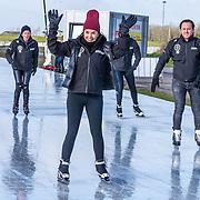 NLD/Biddinghuizen//20170305 - De Hollandse 100 - Stichting Lymph & Co 2017, Rosanna Kluivert met Patrick Kluivert en Nino