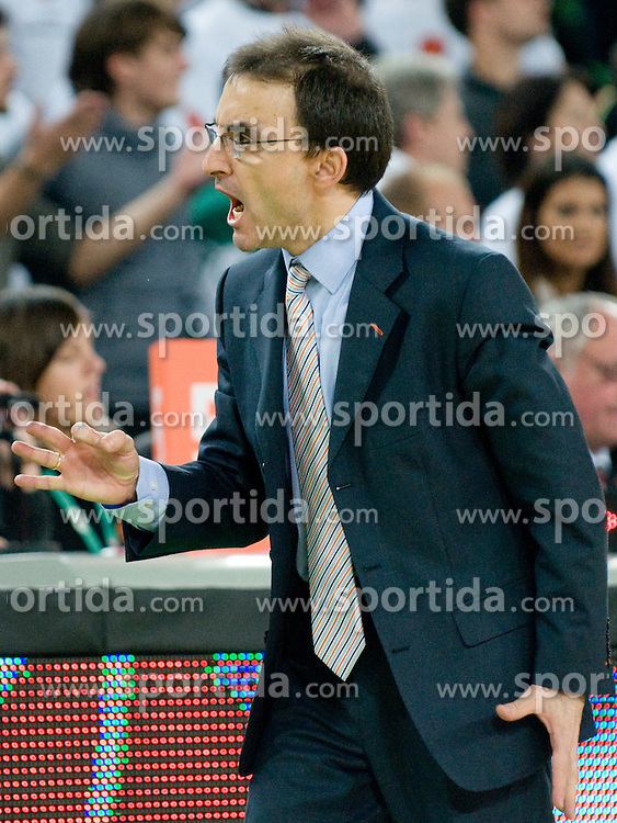 Head Coach of Power E. Valenica Jesus Pablo Mulero during basketball match between KK Union Olimpija (SLO) and Power E. Valencia (SPA) in Group D of Turkish Airlines Euroleague, on November 17, 2010 in Arena Stozice, Ljubljana, Slovenia. (Photo By Matic Klansek Velej / Sportida.com)