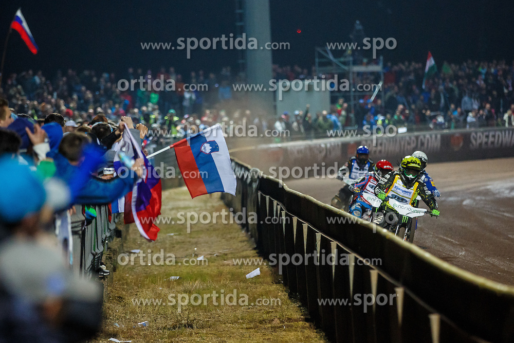 Andreas Jonsson, ANTONIO LINDBACK of Sweden, NIELS-KRISTIAN IVERSEN of Denmark and MATEJ ZAGAR of Slovenia during FIM Speedway Grand Prix World Cup, Krsko, on 30. April, 2016, in Spo, rts park Krsko, Slovenia. Photo by Grega Valancic / Sportida