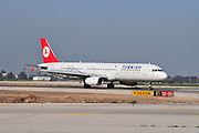 Israel, Ben-Gurion international Airport Turkish Airlines Airbus A330 passenger jet landing