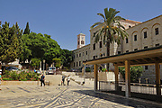 Israel, Nazareth, the garden and courtyard of the Basilica of the Annunciation