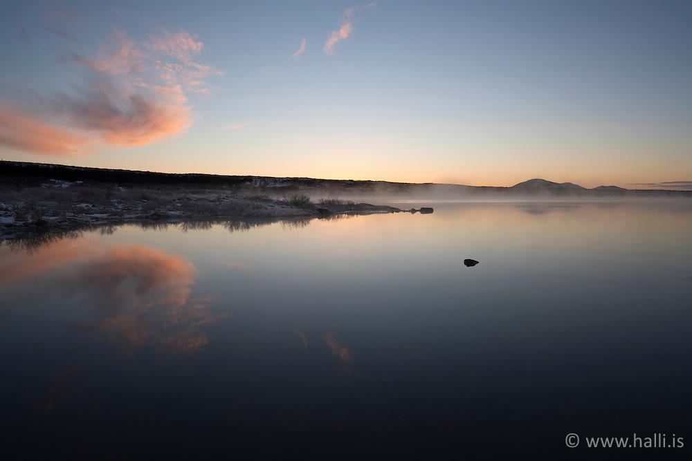 Lake ThingvellirIceland,  at -13°C -Þingvallavatn að vetro