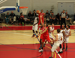 Bristol Flyers' Greg Streete shoots at the basket - Photo mandatory by-line: Robbie Stephenson/JMP - Mobile: 07966 386802 - 18/04/2015 - SPORT - Basketball - Bristol - SGS Wise Campus - Bristol Flyers v Leeds Force - British Basketball League