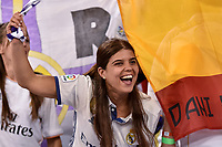 Real Madrid supporter during the UEFA Champions League Final match between Real Madrid and Juventus at the National Stadium of Wales, Cardiff, Wales on 3 June 2017. Photo by Giuseppe Maffia.<br /> <br /> Giuseppe Maffia/UK Sports Pics Ltd/Alterphotos