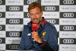 MUNICH, GERMANY - Monday, July 31, 2017: Liverpool's manager Jürgen Klopp during a press conference ahead of the Audi Cup 2017 at the Westin Grand Hotel München. (Pic by David Rawcliffe/Propaganda)