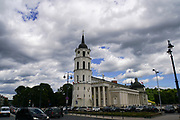 Cathedral square with the belfry, Vilnius, Lithuania