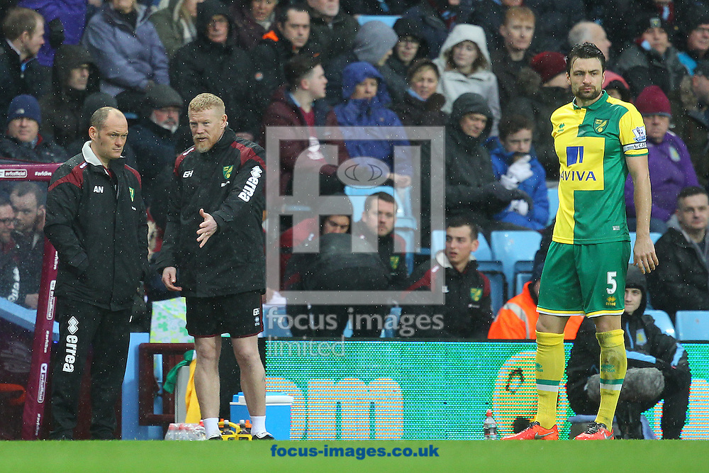 Norwich Manager Alex Neil, Norwich First Team Coach Gary Holt and Norwich Manager Alex Neil during the Barclays Premier League match at Villa Park, Birmingham<br /> Picture by Paul Chesterton/Focus Images Ltd +44 7904 640267<br /> 06/02/2016