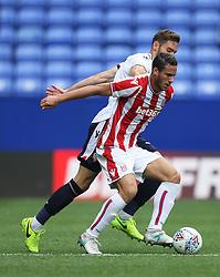 Ramadan Sobhi of Stoke City (Front)  in action - Mandatory by-line: Jack Phillips/JMP - 29/07/2017 - FOOTBALL - Macron Stadium - Bolton, England - Bolton Wanderers v Stoke City - Pre-Season Club Friendly