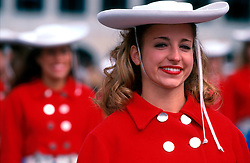 IRELAND DUBLIN 17MAR00 - Jennifer Grey, (18), from Austin, Texas gets ready for a day of marching during Dublin's St. Patrick's Day celebrations. ..jre/Photo by Jiri Rezac..© Jiri Rezac 2000..Contact: +44 (0) 7050 110 417.Mobile:  +44 (0) 7801 337 683.Office:  +44 (0) 20 8968 9635..Email:   jiri@jirirezac.com.Web:     www.jirirezac.com..© All images Jiri Rezac 2000 - All rights reserved.