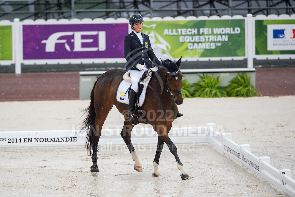 Sandra Karlsson, (SWE), Vouge E - Team Competition Grade Ib Para Dressage - Alltech FEI World Equestrian Games&trade; 2014 - Normandy, France.<br /> &copy; Hippo Foto Team - Jon Stroud <br /> 25/06/14