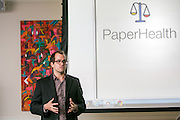 """This is William Edward Palin at the """"Hackness to Justice 2014 Hackathon"""" session at the 2014 annual meeting of the American Bar Association in Boston at Suffolk University Law School.  photo by Kathy Anderson"""