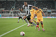 Isaac Hayden (Newcastle United) goes to collect the ball and cross into the Preston penalty box during the EFL Cup 4th round match between Newcastle United and Preston North End at St. James's Park, Newcastle, England on 25 October 2016. Photo by Mark P Doherty.