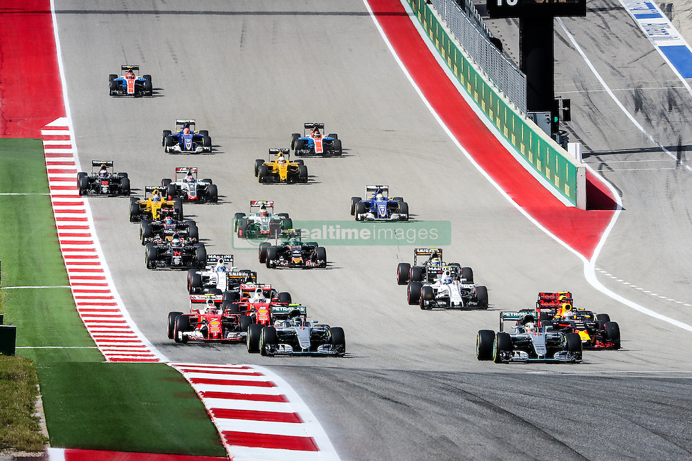 October 23, 2016 - Austin, Texas, U.S - The start of the US Grand Prix race at the Circuit of the Americas race track in Austin,Texas. (Credit Image: © Dan Wozniak via ZUMA Wire)