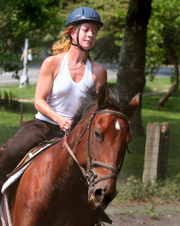 Third of three. She was a very experienced rider on a rather hot day in June.