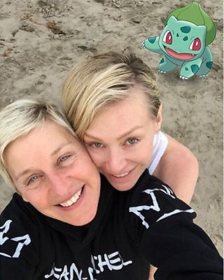 "Ellen DeGeneres releases a photo on Instagram with the following caption: ""Had to look for a long time for this one."". Photo Credit: Instagram *** No USA Distribution *** For Editorial Use Only *** Not to be Published in Books or Photo Books ***  Please note: Fees charged by the agency are for the agency?s services only, and do not, nor are they intended to, convey to the user any ownership of Copyright or License in the material. The agency does not claim any ownership including but not limited to Copyright or License in the attached material. By publishing this material you expressly agree to indemnify and to hold the agency and its directors, shareholders and employees harmless from any loss, claims, damages, demands, expenses (including legal fees), or any causes of action or allegation against the agency arising out of or connected in any way with publication of the material."