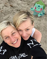 """Ellen DeGeneres releases a photo on Instagram with the following caption: """"Had to look for a long time for this one."""". Photo Credit: Instagram *** No USA Distribution *** For Editorial Use Only *** Not to be Published in Books or Photo Books ***  Please note: Fees charged by the agency are for the agency?s services only, and do not, nor are they intended to, convey to the user any ownership of Copyright or License in the material. The agency does not claim any ownership including but not limited to Copyright or License in the attached material. By publishing this material you expressly agree to indemnify and to hold the agency and its directors, shareholders and employees harmless from any loss, claims, damages, demands, expenses (including legal fees), or any causes of action or allegation against the agency arising out of or connected in any way with publication of the material."""