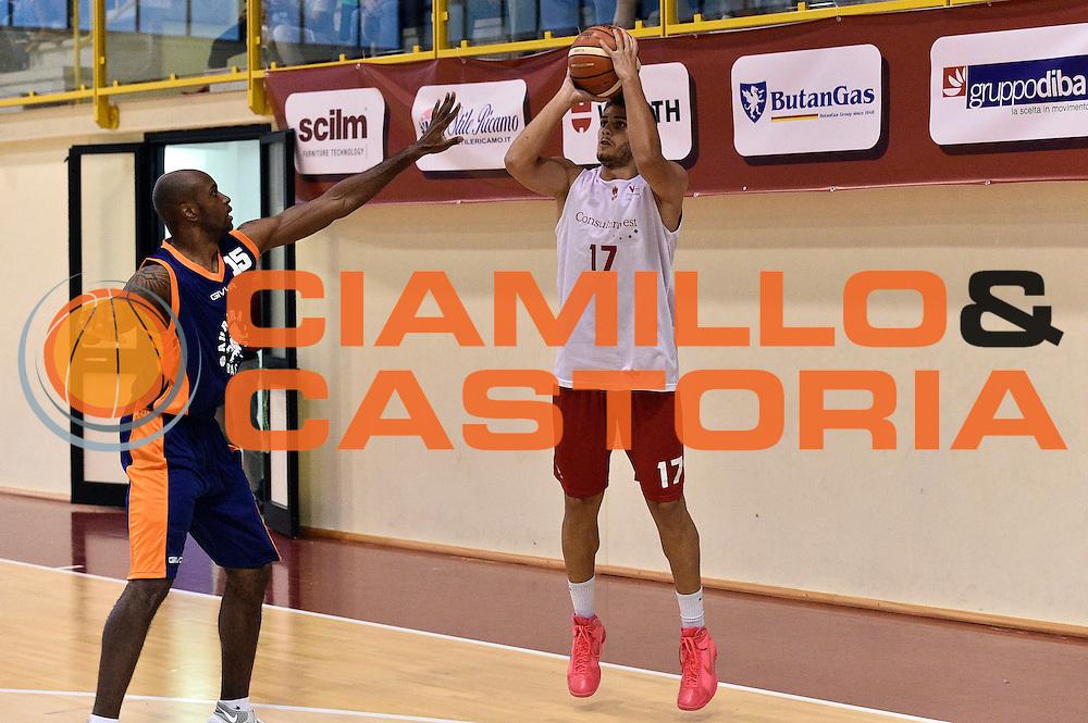 Marco Ceron<br /> Consultinvest Victoria Libertas Pesaro - Aurora Basket Jesi<br /> Legabasket Serie A 2016/2017<br /> Borgo Pace, 30/08/2016<br /> Foto Ciamillo-Castoria