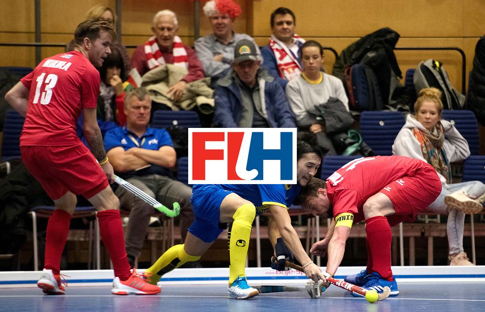 BERLIN - Indoor Hockey World Cup<br /> Kazakhstan - Poland<br /> foto: ABDULABAYEV Ilgam.<br /> WORLDSPORTPICS COPYRIGHT FRANK UIJLENBROEK