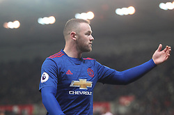 Wayne Rooney of Manchester United - Mandatory by-line: Jack Phillips/JMP - 21/01/2017 - FOOTBALL - Bet365 Stadium - Stoke-on-Trent, England - Stoke City v Manchester United - Premier League