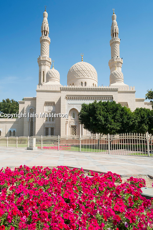 Jumeirah Grand Mosque in Dubai United Arab Emirates