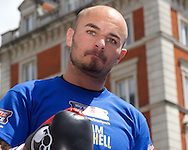 Kevin Mitchell during a public workout in Covent Garden, London<br /> Picture by Alan Stanford/Focus Images Ltd +44 7915 056117<br /> 26/05/2015