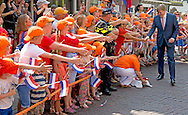 3-7-2015 OUDEWATER - Koning Willem Alexander bezoekt vrijdag 3 juli 2015 de stad Oudewater. De Koning woont in de Grote Kerk een feestelijke bijeenkomst bij ter gelegenheid van de viering van 750 jaar stadsrechten van Oudewater. Het ontstaan van de Staat der Nederlanden vormt daarbij een belangrijk thema. COPYRIGHT ROBIN UTRECHT<br /> 3-7-2015 OUDEWATER - King Willem Alexander will visit Friday, July 3rd, 2015 the town Oudewater. The King attends in the Great Church a ceremony on the occasion of the celebration of 750 years of city rights Oudewater. The birth of the State of the Netherlands forms a major theme.COPYRIGHT ROBIN UTRECHT