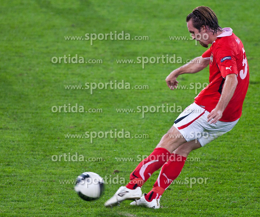 07.09.2010, Red Bull Arena, Salzburg, AUT, UEFA 2012 Qualifier, Austria vs Kazakhstan, im Bild Christian Fuchs (1. FSV Mainz 05, Austria, #5) , EXPA Pictures © 2010, PhotoCredit: EXPA/ G. Groder / SPORTIDA PHOTO AGENCY