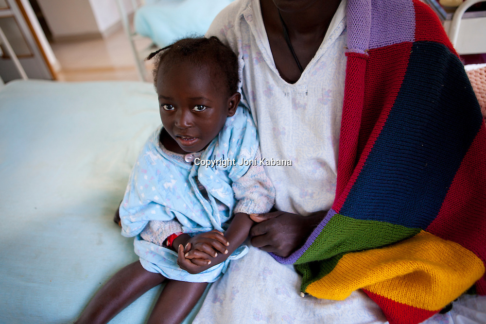 A young girl who was suffering from fistula begins to recover in Addis Ababa, Ethiopia