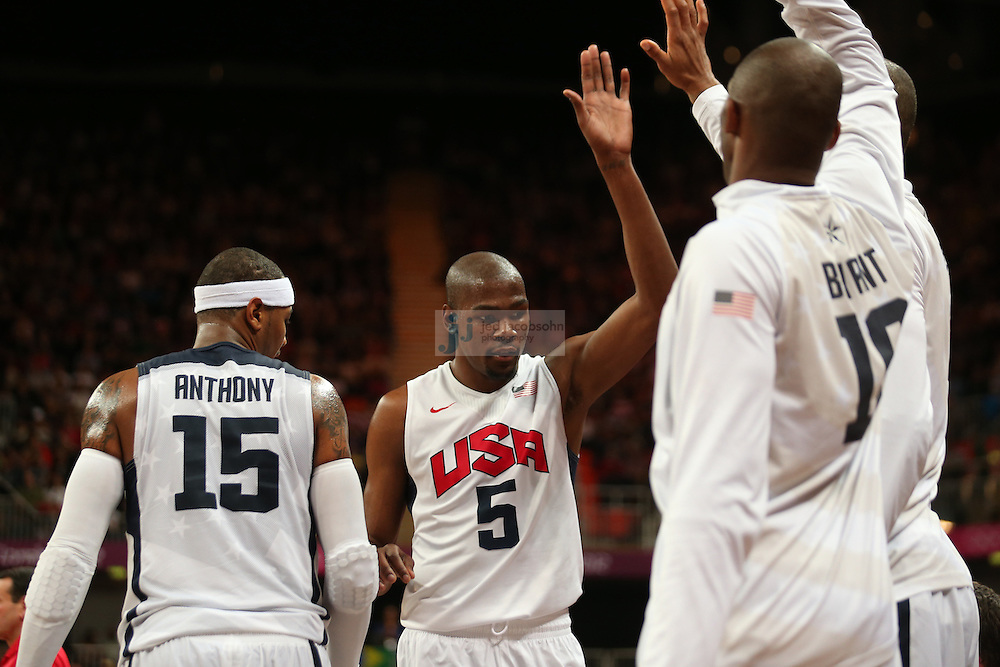 Kevin Durant of the USA in action against France during Day 2 of the London Olympic Games in London, England, United Kingdom on 29 Jul 2012..(Jed Jacobsohn/for The New York Times)....