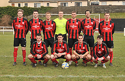 Westport United's lineup against Freebooters FC's in the FAI junior Cup match.<br /> Pic Conor McKeown