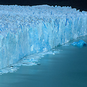Close up view of enormous Porito Moreno Glacier in Parque Nacional las Glaciares, Patagonia, Argentina.