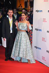 Pallavi Sharda arriving for the opening ceremony of the MIPCOM in Cannes - Marche international des contenus audiovisuels du 16-19 Octobre 2017, Palais des Festivals, Cannes, France.<br />