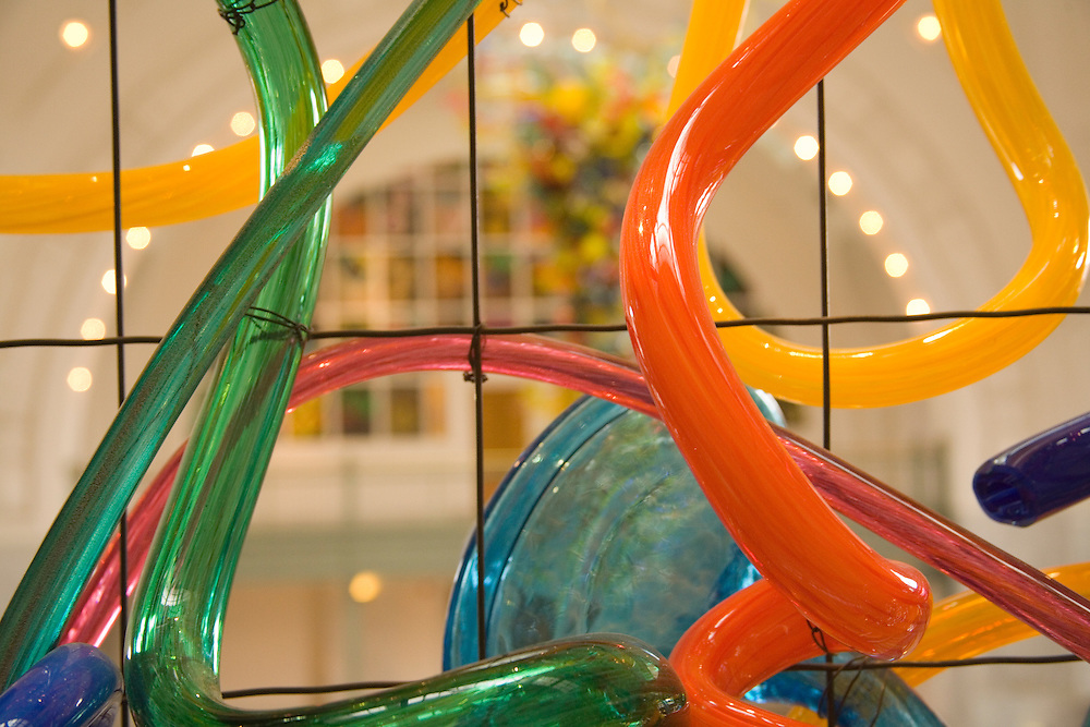 Glass art by Dale Chihully in Union Station, Tacoma, Washington, United States