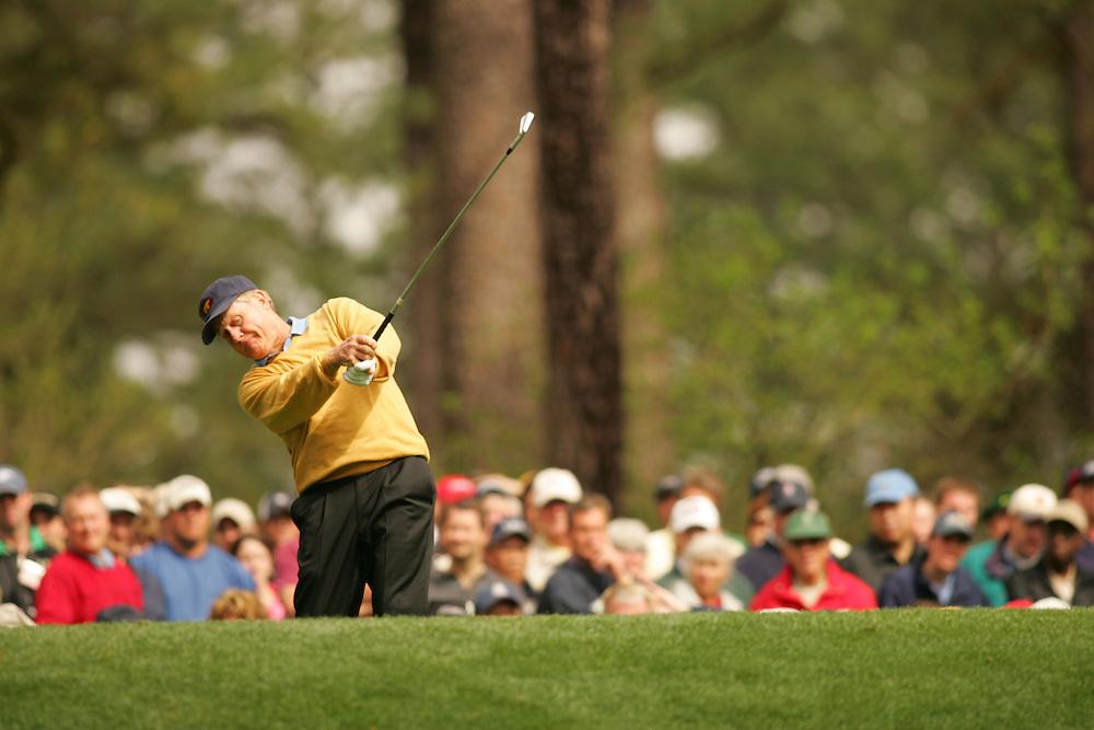 Jack Nicklaus..2005 Masters Tournament.First Round.Augusta National GC.Augusta GA.Thursday, April 7 2005..photograph by Darren Carroll..04-07-05...