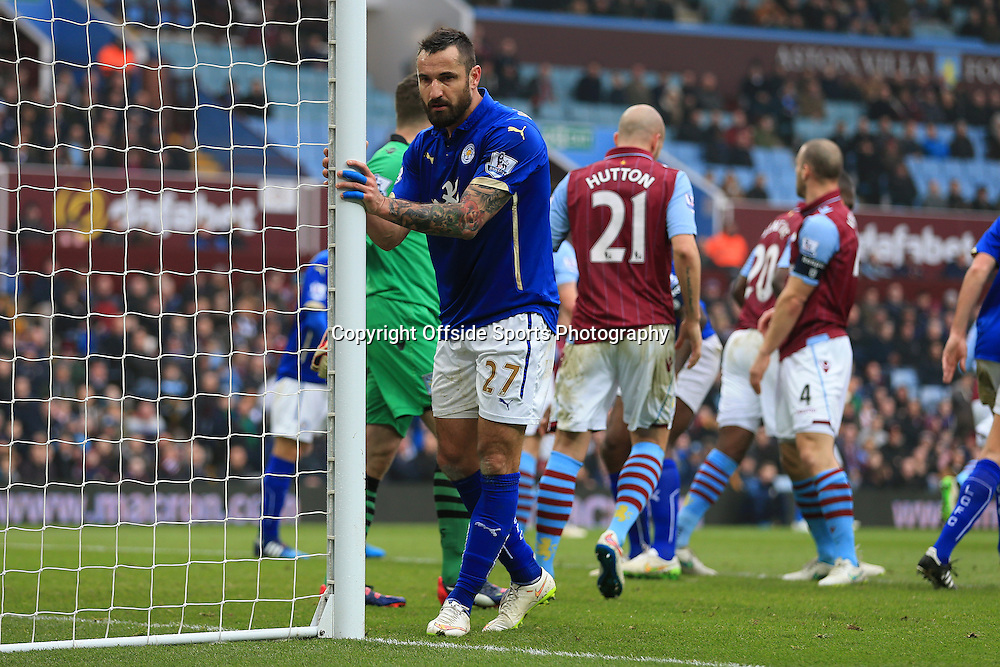 15th February 2015 - FA Cup 5th Round - Aston Villa v Leicester City - Marcin Wasilewski of Leicester looks dejected - Photo: Simon Stacpoole / Offside.