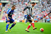 Grimsby Town midfielder Andy Monkhouse on the ball during the FA Trophy match between Grimsby Town FC and Halifax Town at Wembley Stadium, London, England on 22 May 2016. Photo by Mike Sheridan.