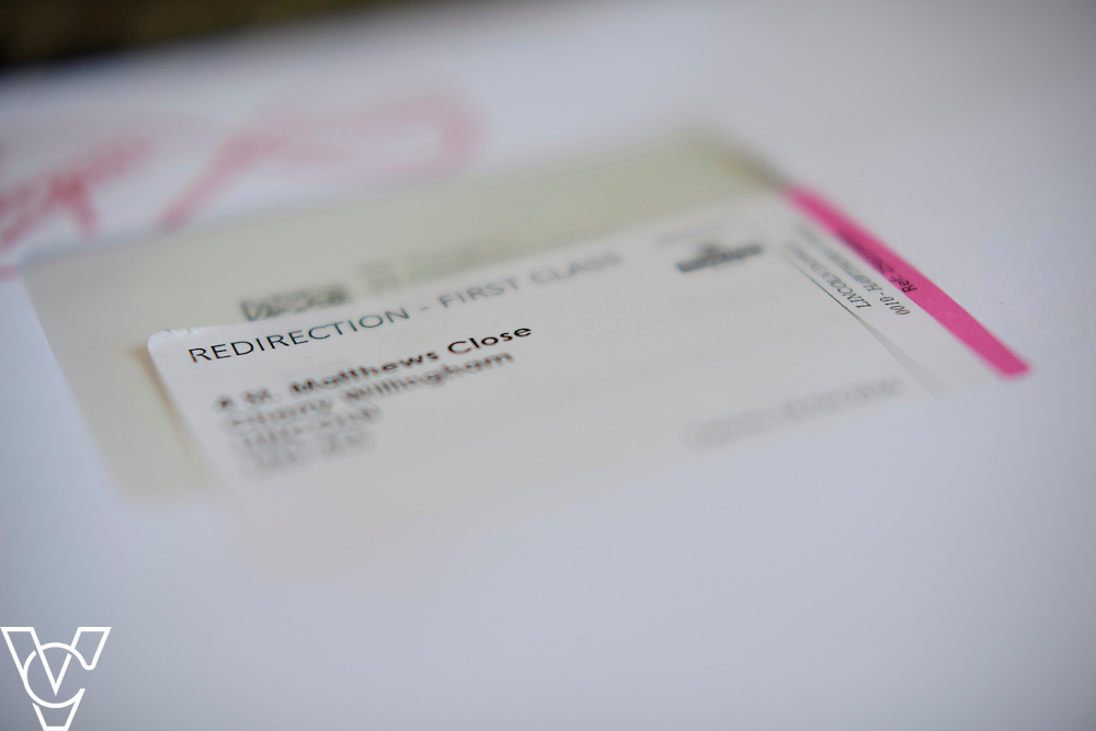 Royal Mail redirection label on a letter.<br /> <br /> Picture: Chris Vaughan/Chris Vaughan Photography<br /> Date: July 31, 2016