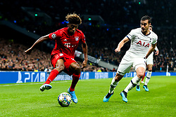Kingsley Coman of Bayern Munich is challenged by Harry Winks of Tottenham Hotspur - Rogan/JMP - 01/10/2019 - FOOTBALL - Tottenham Hotspur Stadium - London, England - Tottenham Hotspur v Bayern Munich - UEFA Champions League Group B.