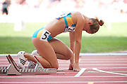 O Boturchuk of the Ukraine in The Bird's Nest National Stadium competeing in the women's 200 metre T12 heats at the Paralympic games, Beijing, China. 15th September 2008