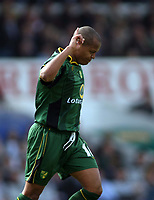 Muted celebrations for Rob Earnshaw after opening the scoring for Norwich