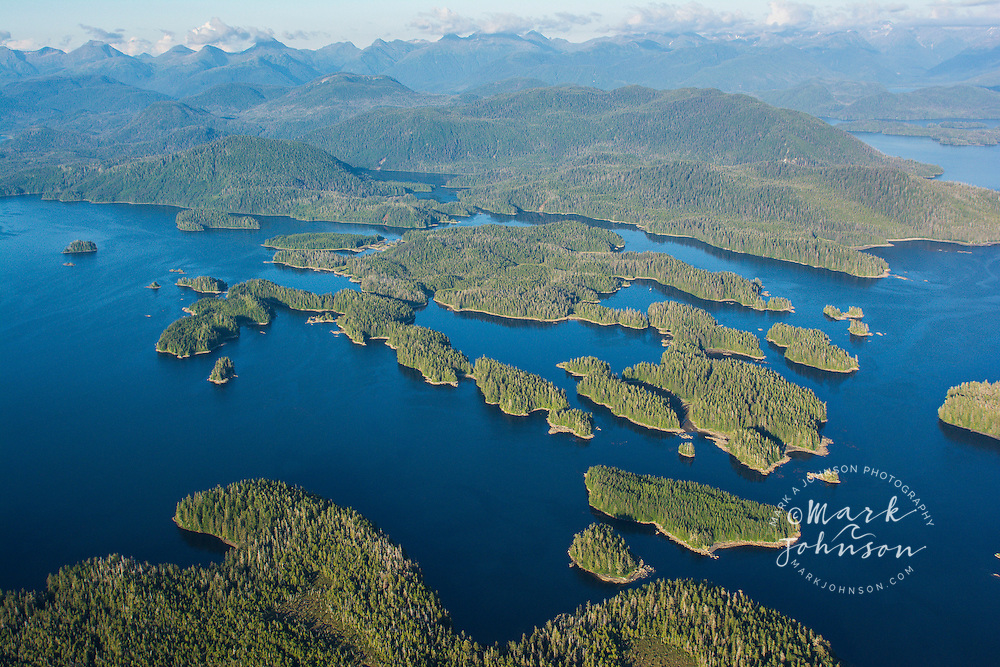 The heavily forested islets that dot the Alexander Archipelago of Southeast Alaska, USA