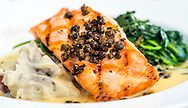 Grilled Salmon with Fried Capers
