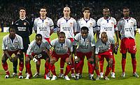 Fotball<br /> Champions League 2004/05<br /> Lyon v PSV Eindhoven<br /> 5. april 2005<br /> Foto: Digitalsport<br /> NORWAY ONLY<br /> TEAM LYON ( BACK ROW LEFT TO RIGHT : GREGORY COUPET / ANTHONY REVEILLERE / CRIS / JUNINHO / CLAUDIO CACAPA / ERIC ABIDAL . FRONT ROW : MAHAMADOU DIARRA / SIDNEY GOVOU / FLORENT MALOUDA / MIKAEL ESSIEN / SYLVAIN WILTORD )