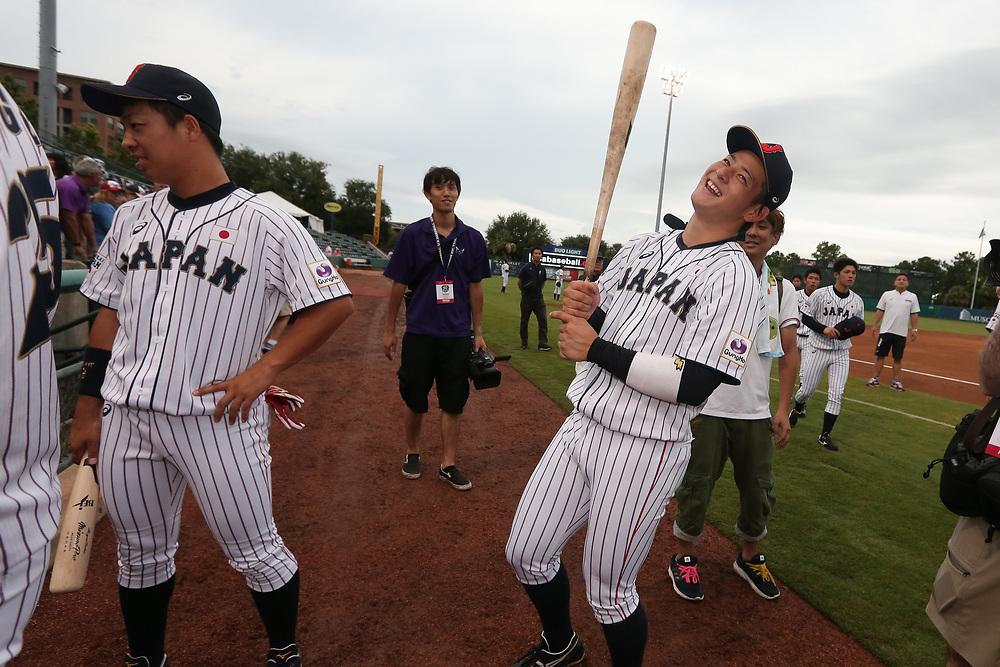 USA Collegiate National Team vs. Samurai Japan All-Stars at Joseph P. Riley Ballpark in Charleston, S.C. on Saturday, July 7, 2018.<br /> Zach Bland/Charleston RiverDogs