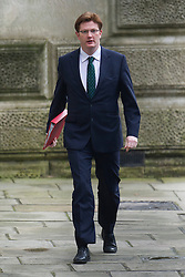 © London News Pictures. 19/03/2013. London, UK.  Chief Secretary to the Treasury Danny Alexander MP arriving on Downing Street in London for cabinet meeting. Photo credit: Ben Cawthra/LNP.