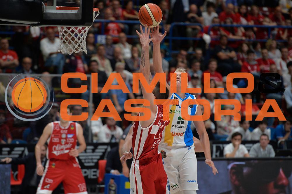 Janis Berzins<br /> Olimpia EA7 Emporio Armani Milano vs Vanoli Cremona<br /> Lega Basket Serie A 2016/2017<br /> PlayOff semifinale gara 2<br /> Milano 14/05/2017<br /> Foto Ciamillo-Castoria / I.Mancini