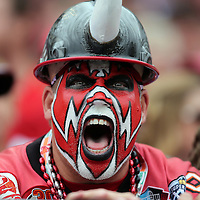 A buccaneers fan during an NFL football game between the San Francisco 49ers  and the Tampa Bay Buccaneers on Sunday, December 15, 2013 at Raymond James Stadium in Tampa, Florida.. (Photo/Alex Menendez)
